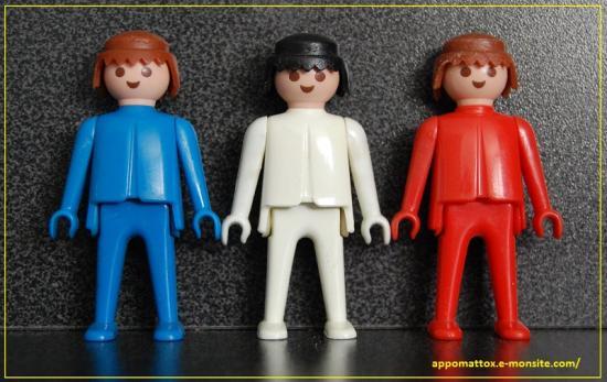 Playmobil bleu blanc rouge